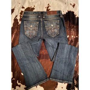 Rock Revival Boot Cut Jeans size 29, inseam 32.